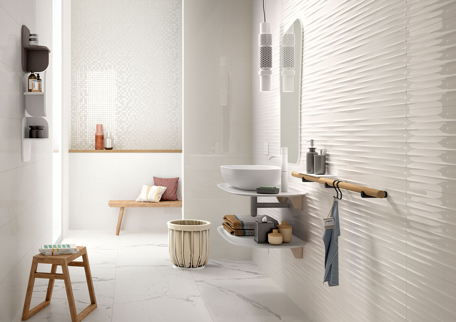 color code ceramic tiles marazzi_7358 - Bathroom Tiles Color