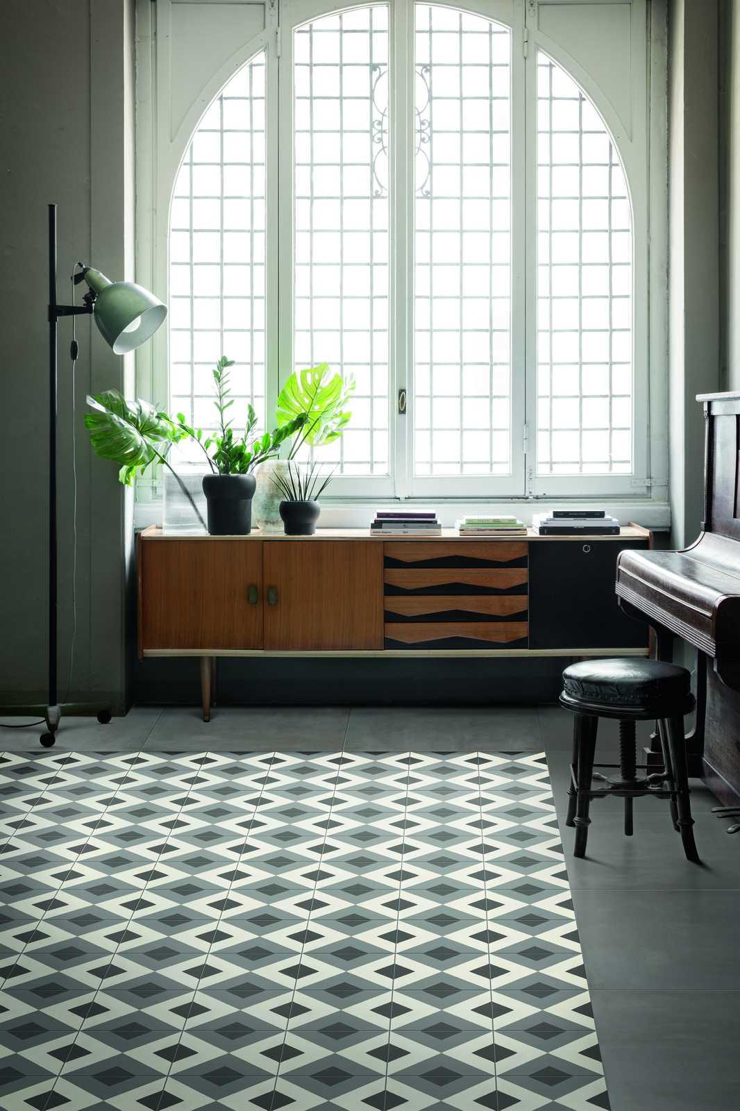 D segni collection stoneware handmade cement tiles marazzi for Handmade cement tiles