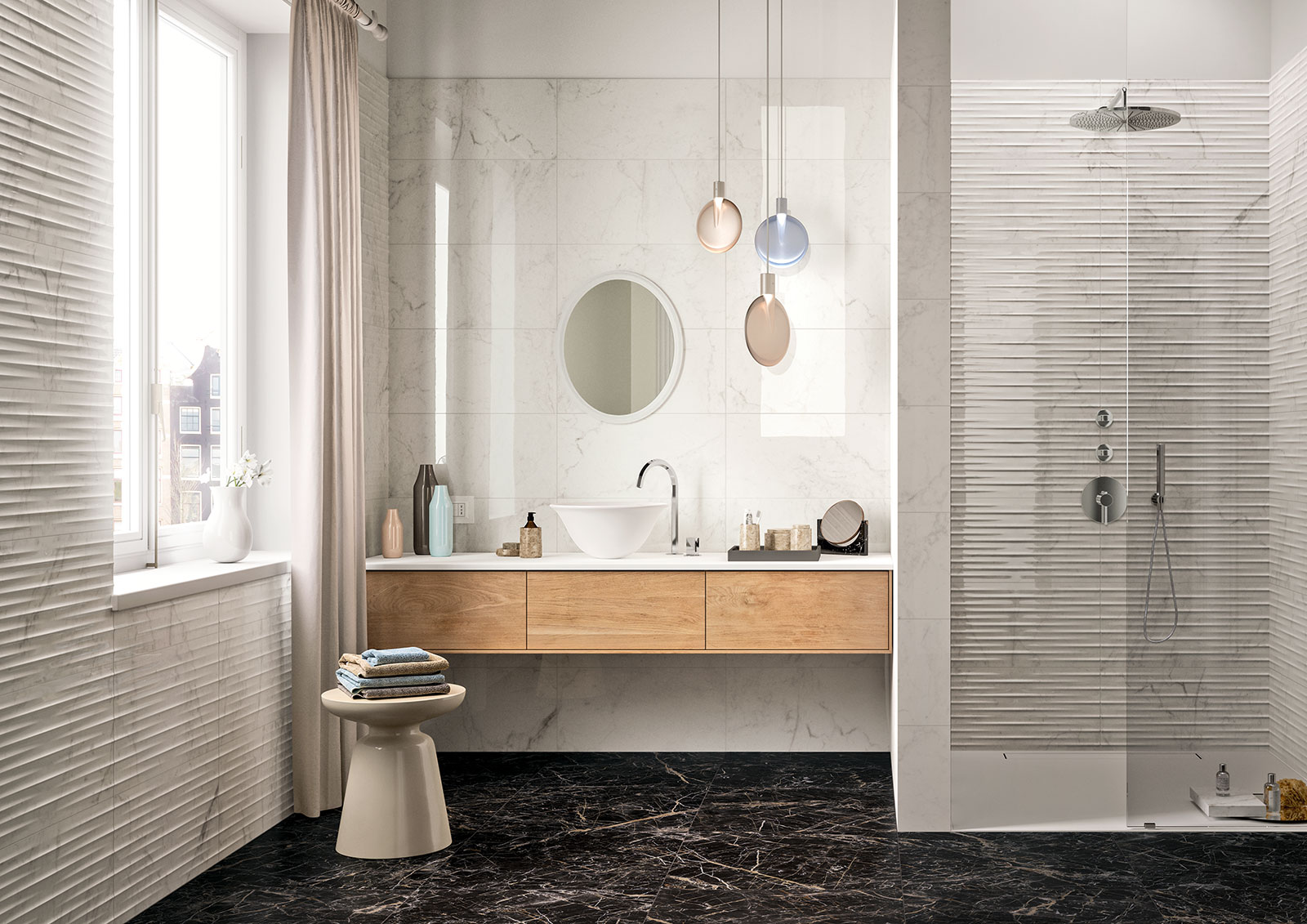 Elegance marble wall tile marazzi for Marazzi tile