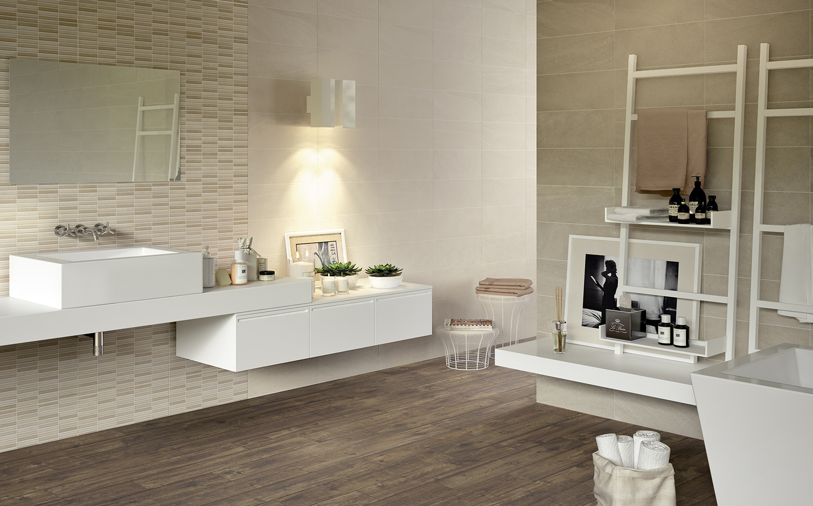 Interiors bathroom and kitchen covering marazzi for Bathrooms and kitchens