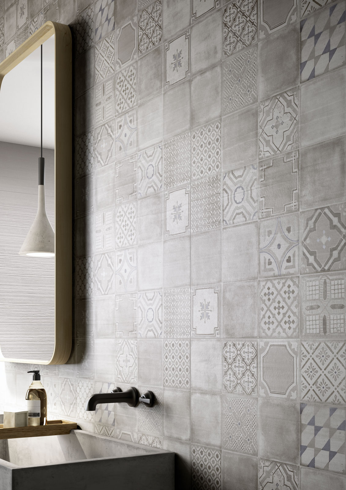 Materika satin concrete effect wall tiles marazzi materika ceramic tiles marazzi6945 dailygadgetfo Images