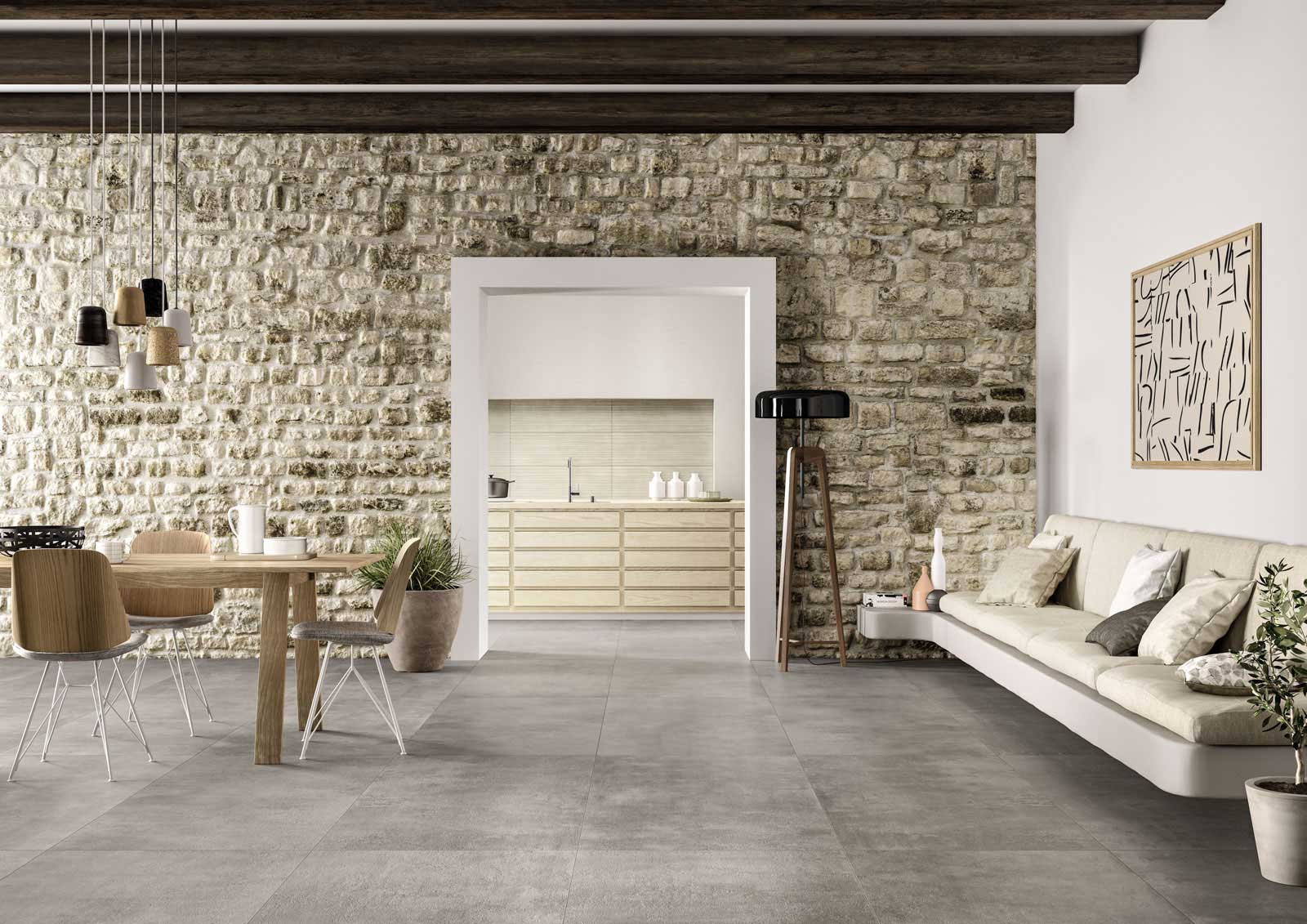 Living room floor inspiration for your furniture marazzi for Home decorations collections flooring