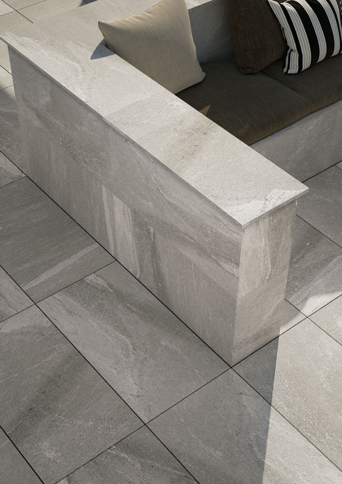 Exterior Stone Tile Flooring : Outdoor tiles gardens and terraces marazzi