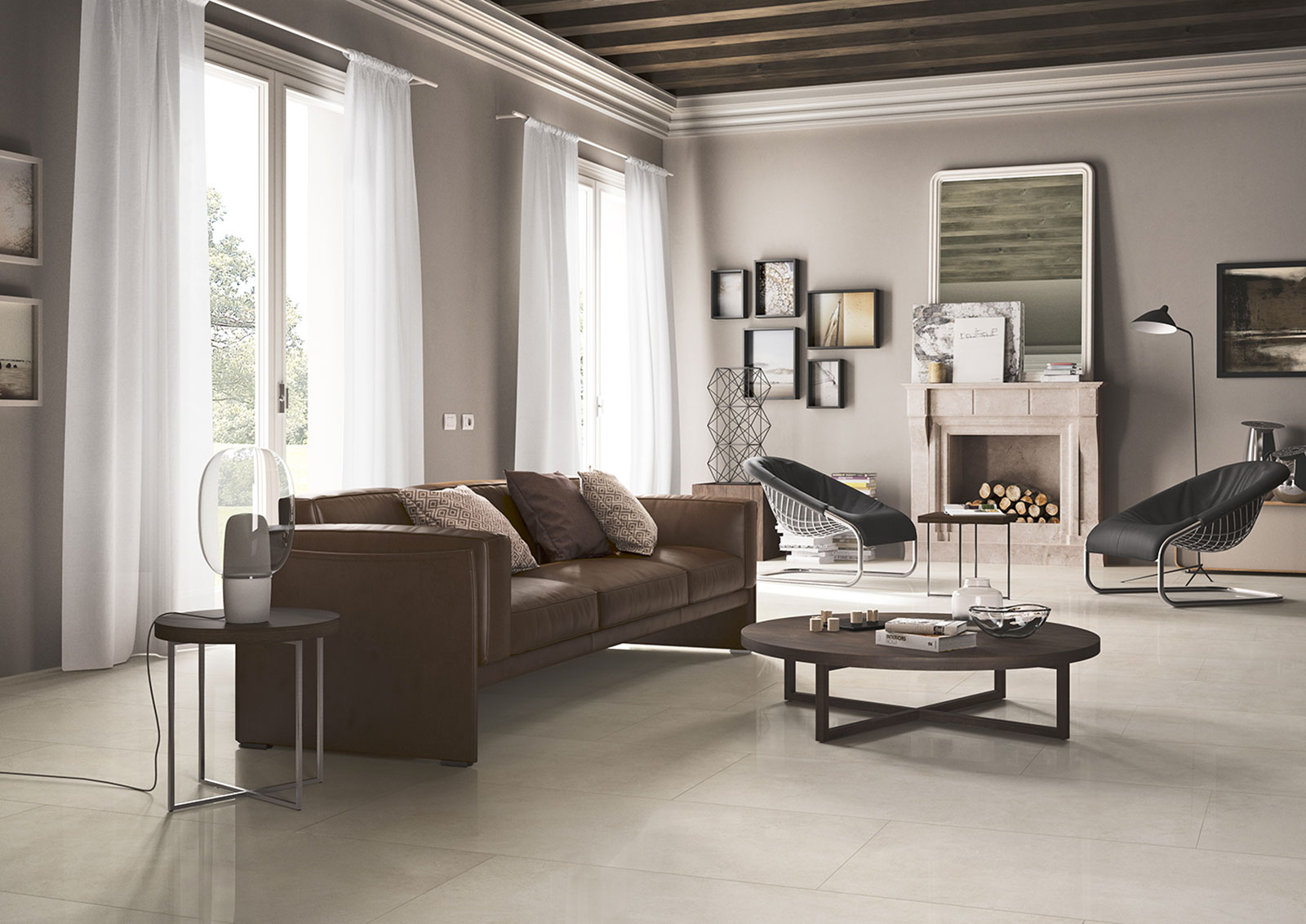 Living room floor inspiration for your furniture marazzi for Living room floor decor