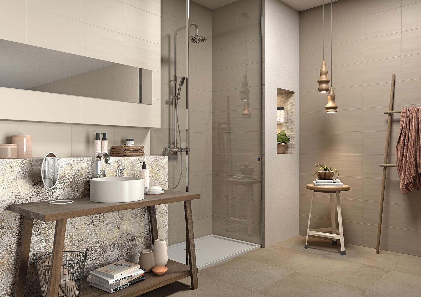 Neutral bathroom tiles - Neutral Ceramic Tiles Marazzi_7433