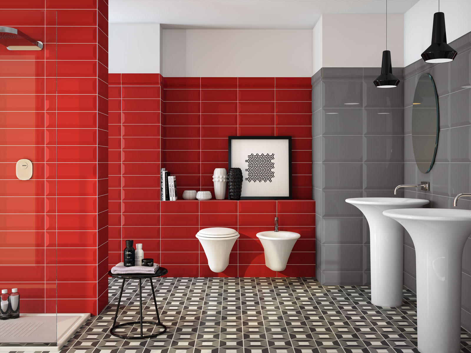 Bathroom Tiles Red oxford - polished porcelain stoneware | marazzi