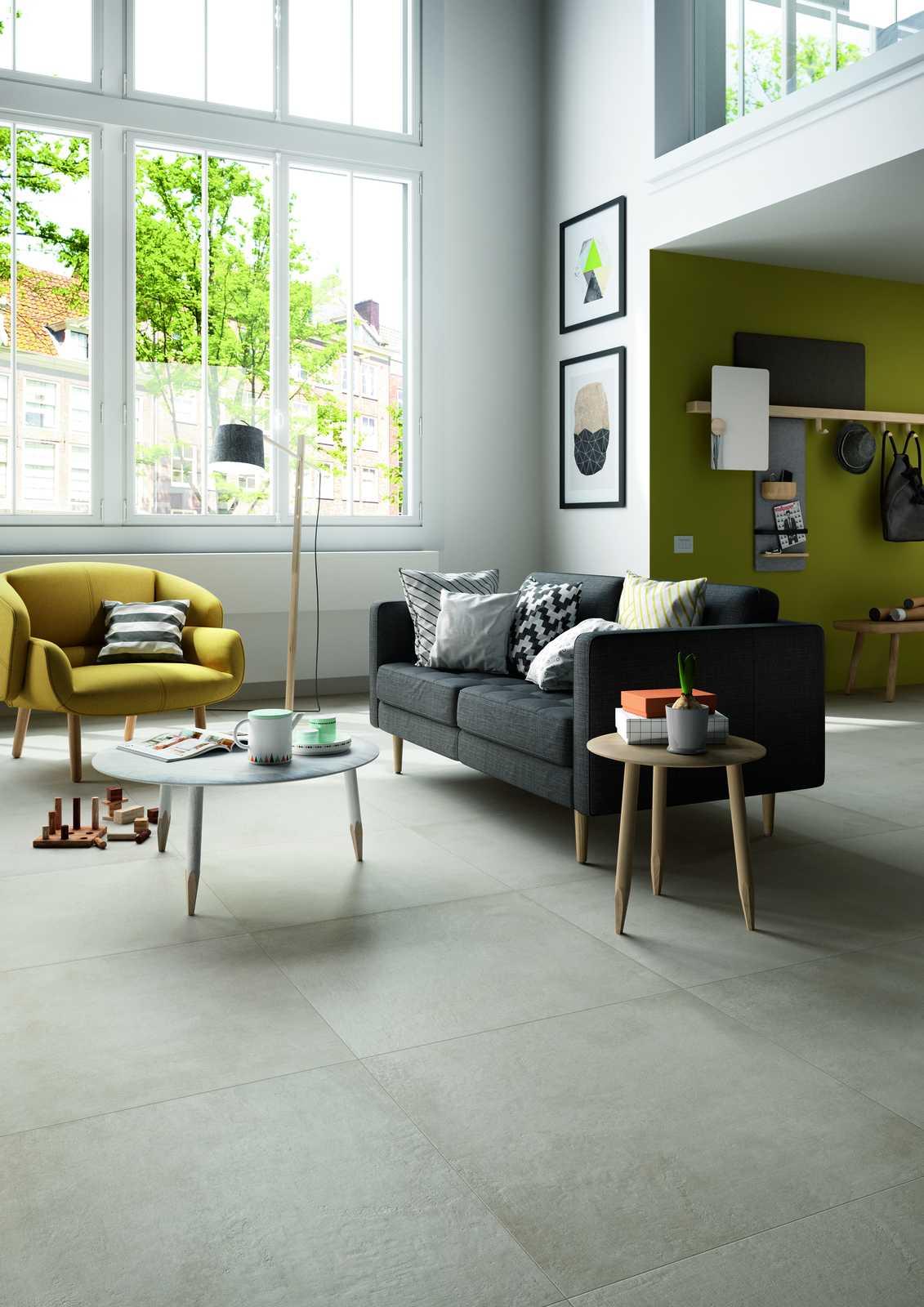 Plaster porcelain stoneware flooring marazzi for Carrelage 60x60 taupe