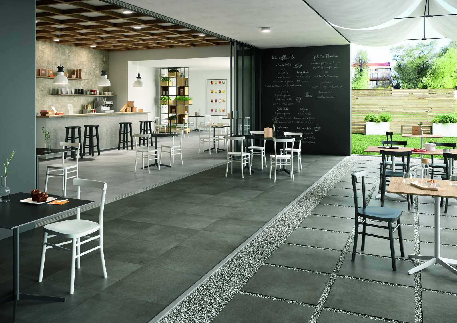 plaster - porcelain stoneware flooring | marazzi