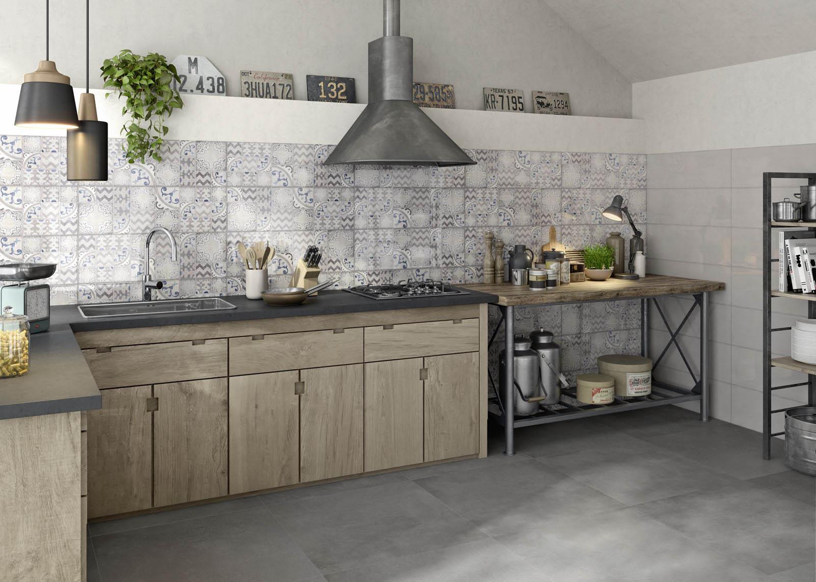 Kitchen flooring stoneware and porcelain solutions marazzi - Azulejos vintage cocina ...