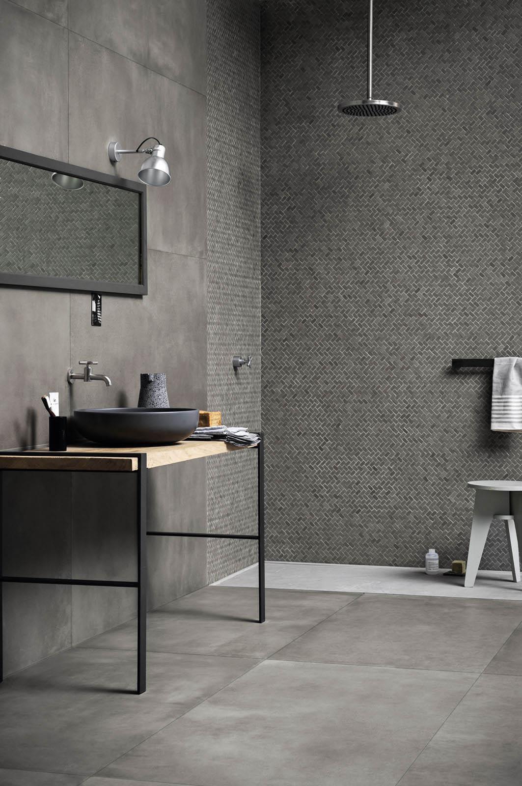 Bathroom flooring ceramic and porcelain stoneware marazzi for Carrelage marazzi