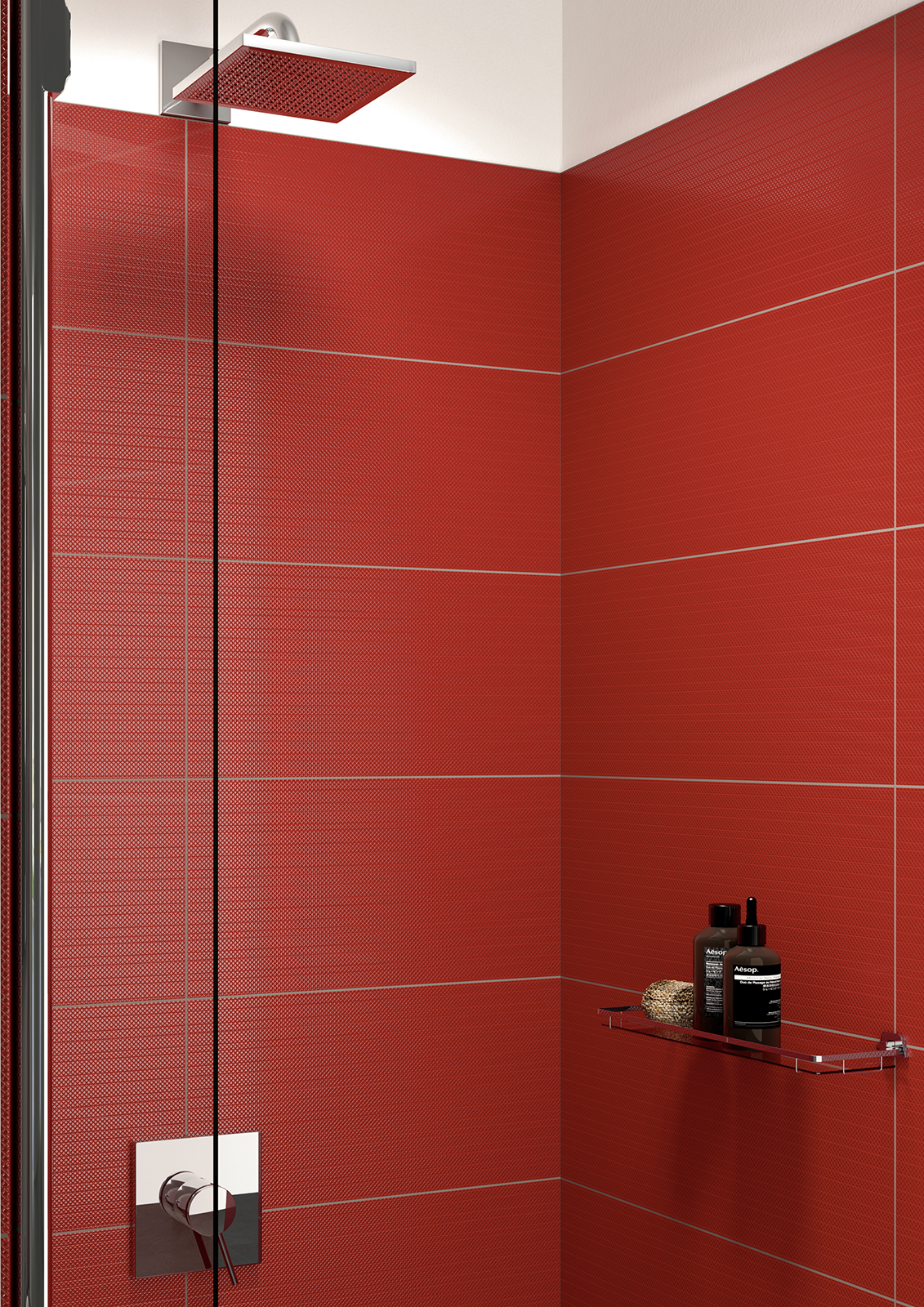 Red tiles view the collections marazzi for Carrelage salle de bain jaune