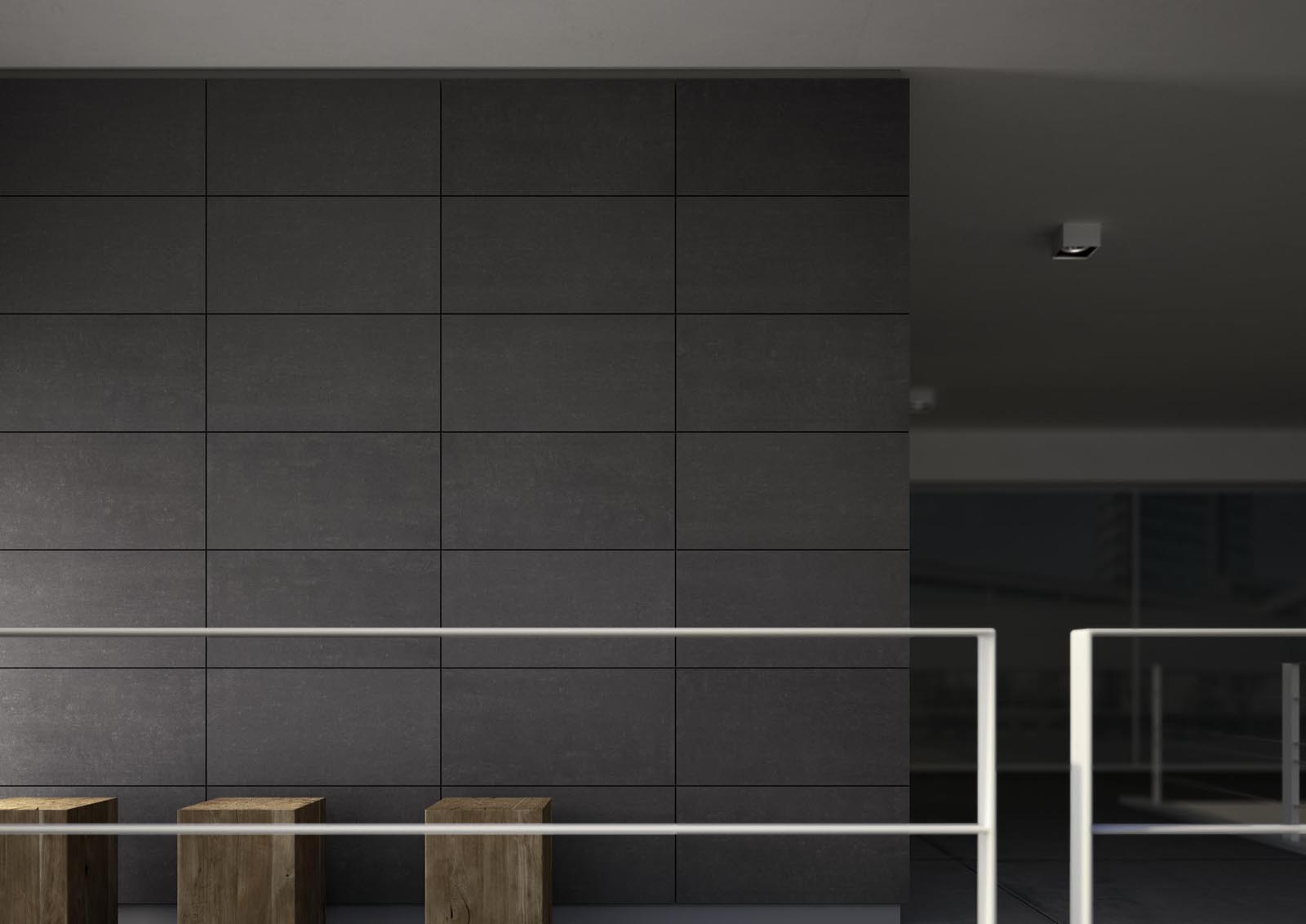 Black tiles view the collections marazzi for Carrelage noir mat