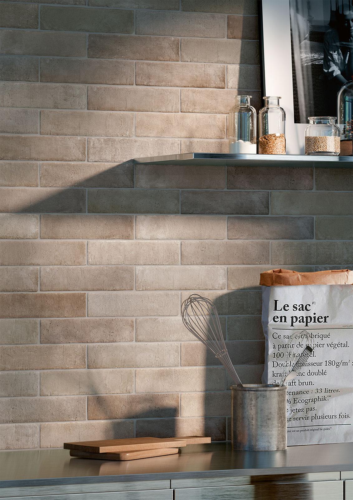 Kitchen flooring stoneware and porcelain solutions marazzi - Imitacion a ladrillo ...