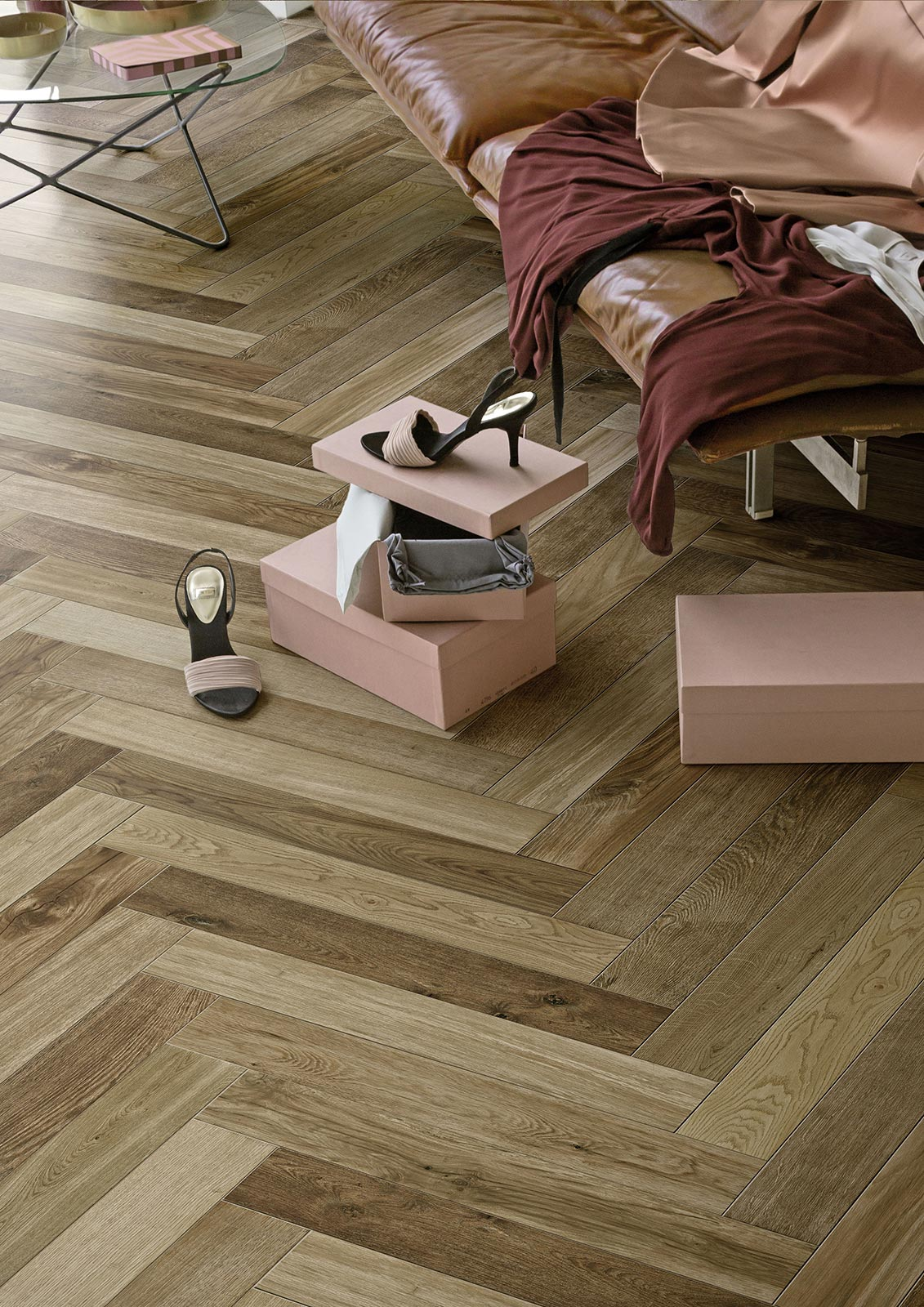Wood effect and hardwood porcelain stoneware marazzi for Carrelage immitation parquet