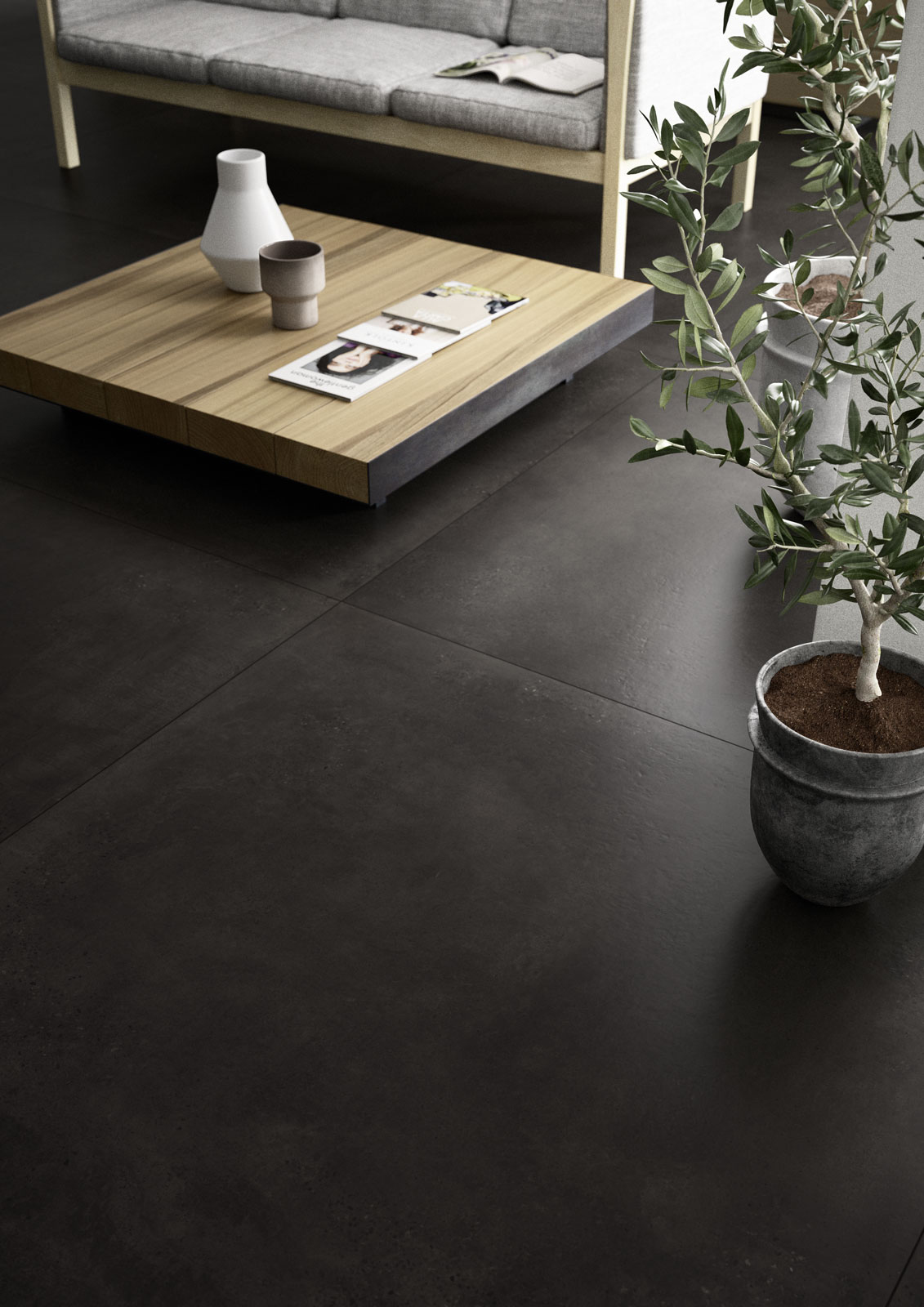 Xlstreet big size tiles marazzi for Carrelage noir