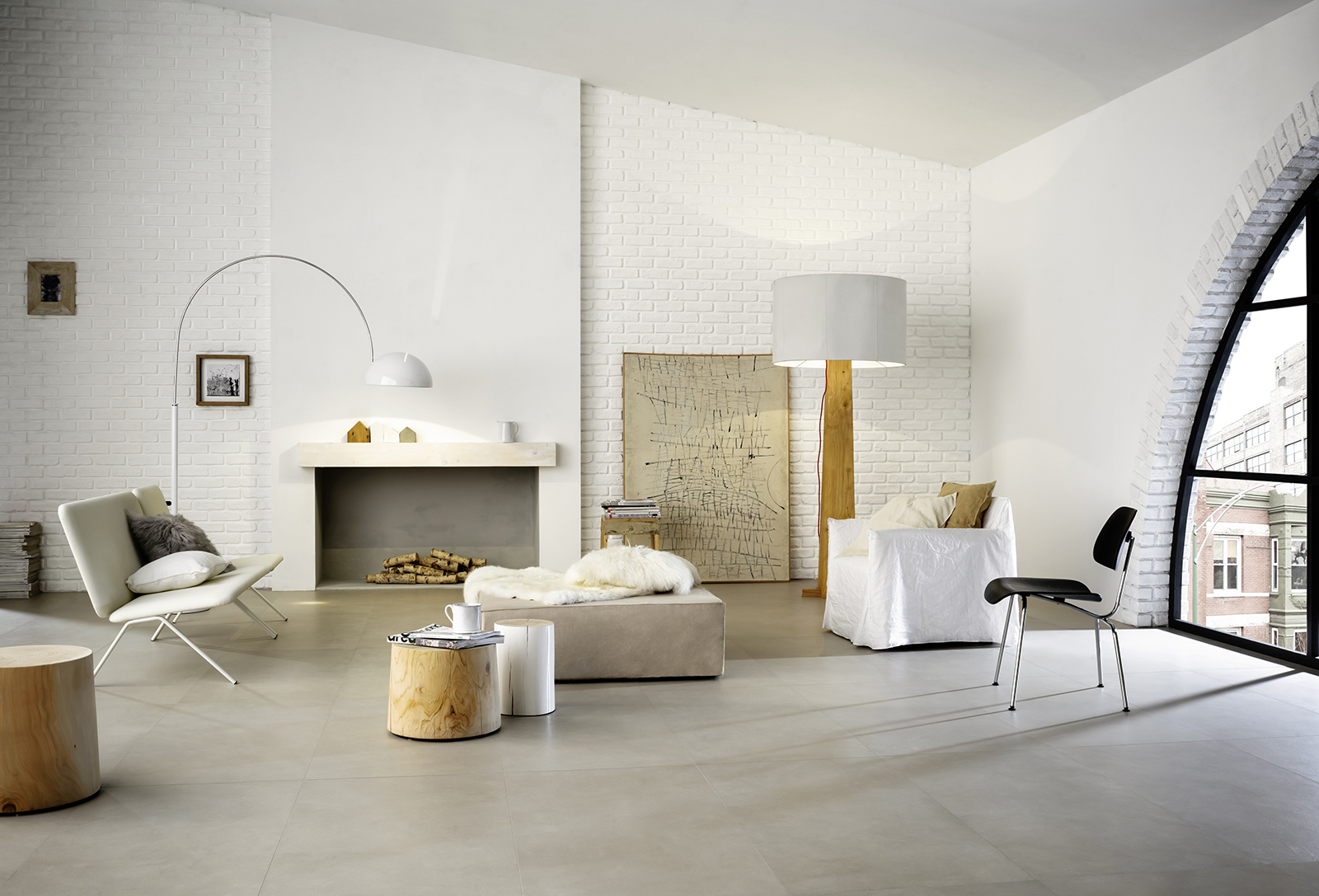 Block porcelain stoneware flooring and walls marazzi for Carrelage 75x75