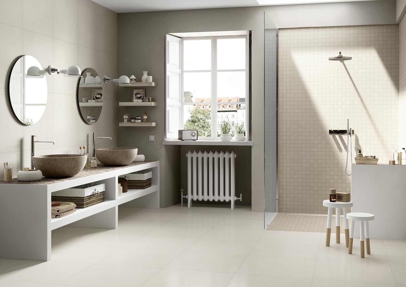 block - porcelain stoneware flooring and walls | marazzi - Marazzi Arredo Bagno