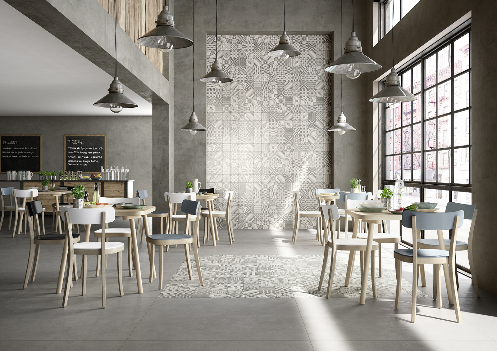 Block porcelain stoneware flooring and walls marazzi for Carrelage 90x90 gris