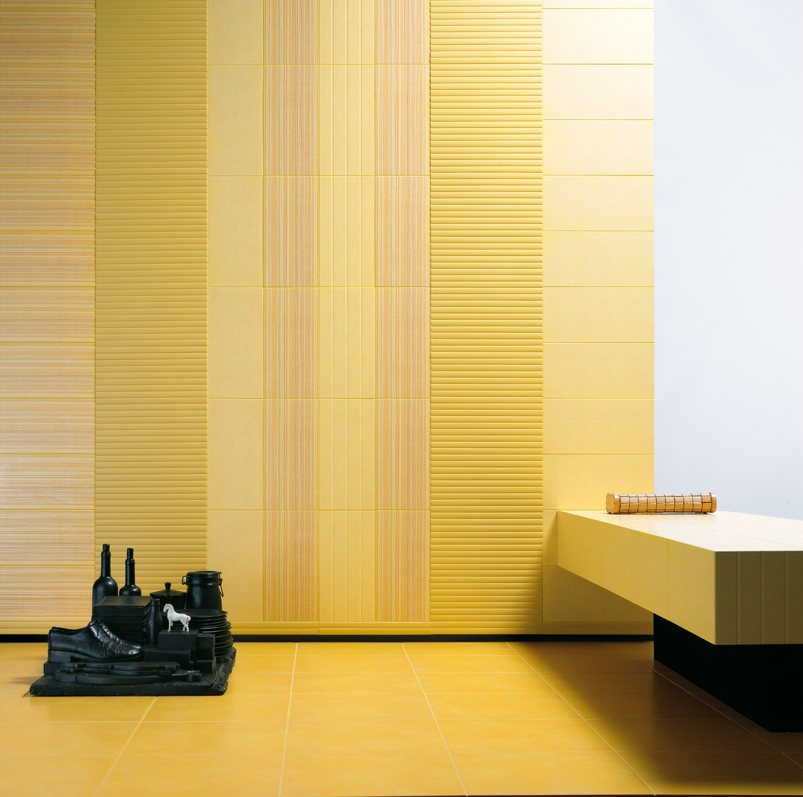 Yellow tiles view the collections marazzi for Floor covering tiles