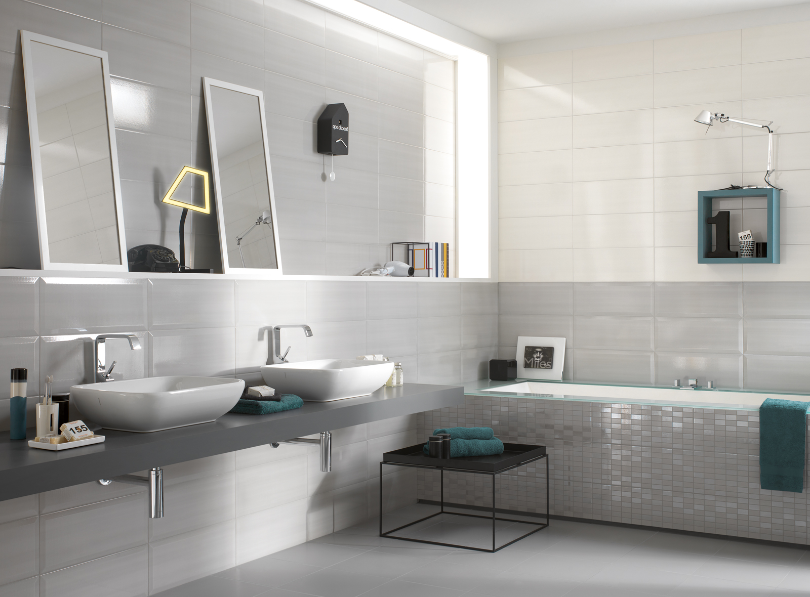 nuance ceramic bathroom covering marazzi. Black Bedroom Furniture Sets. Home Design Ideas