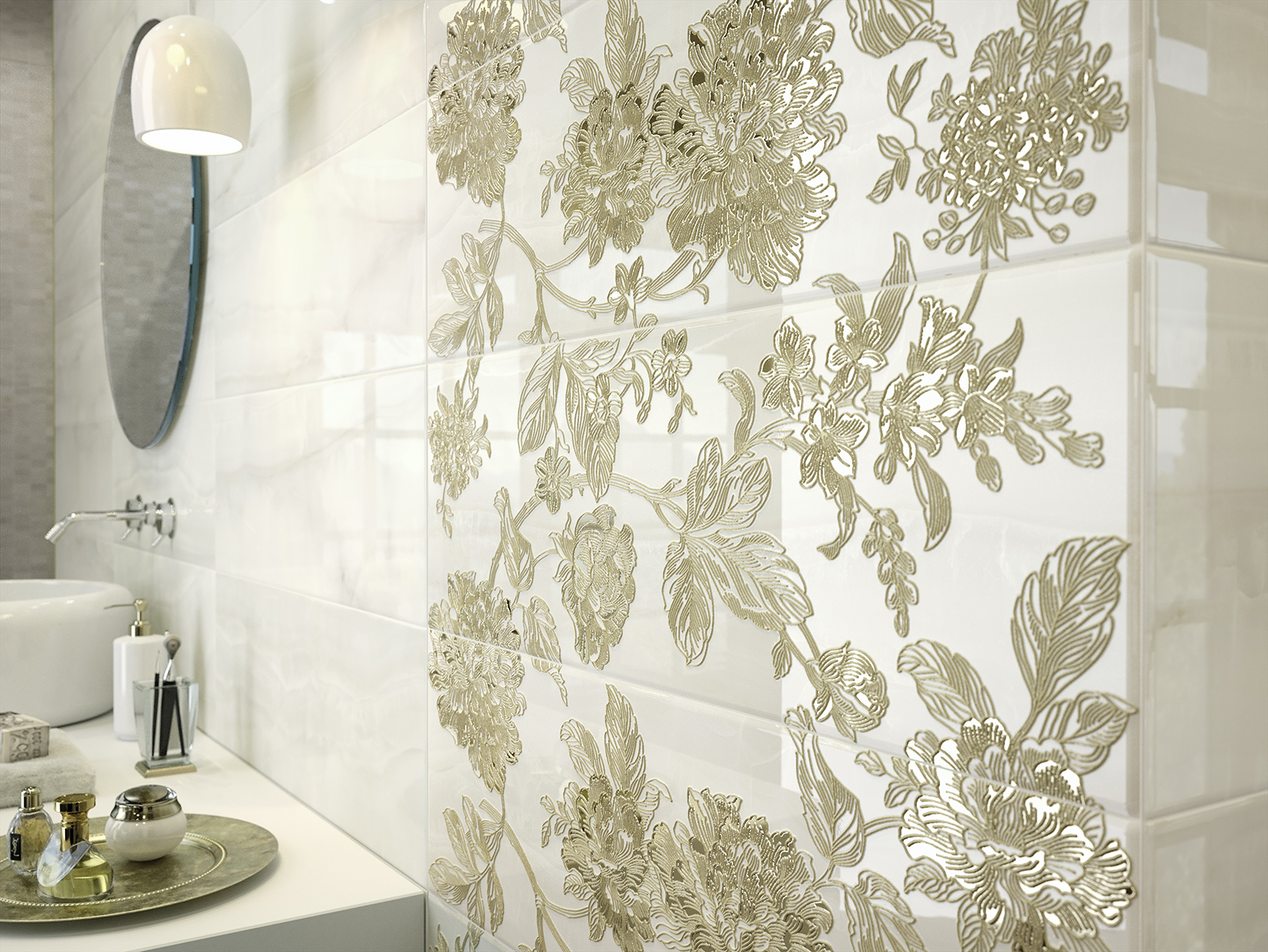 Natural bathroom decor - Onix Marble Effect Stoneware For The Bathroom Marazzi