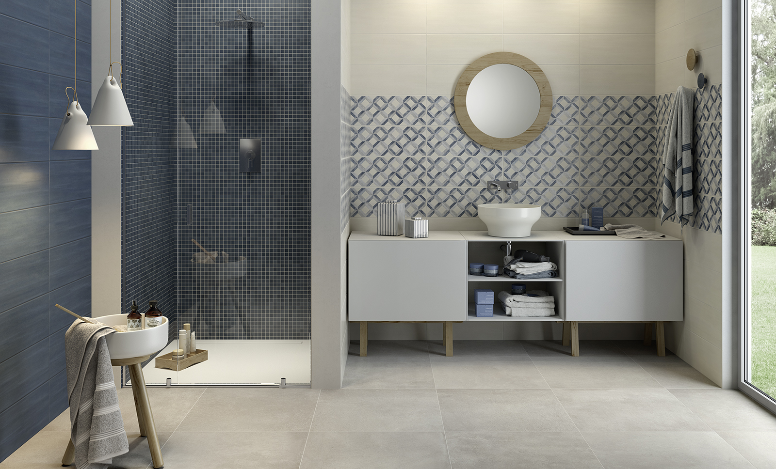 Paint kitchen and bathroom wall tiling marazzi for Kitchen and bathroom
