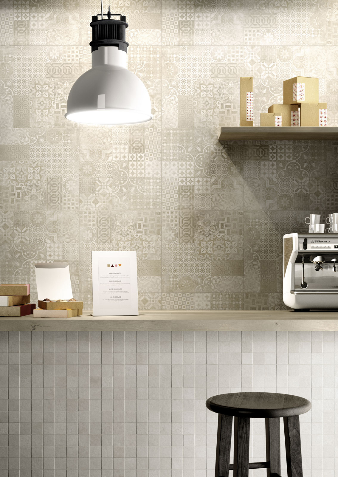 Plaster porcelain stoneware flooring marazzi for Art deco carrelage