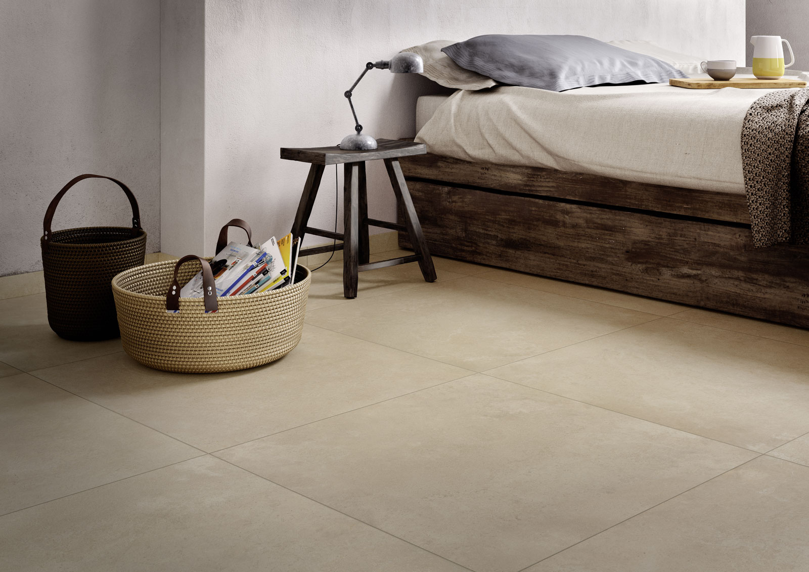 Timeless stone look stoneware tiles marazzi for Carrelage 75x75