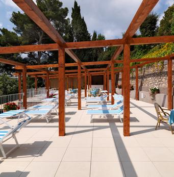 Solarium, Hotel Villa Brunella, Capri